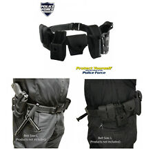 Black Police Nylon PRO Security Guard Complete Duty Belt Rig Kit Holster Set 10p