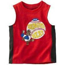 NWT-Boys Carters Red Bringing The Heat Baseball Tank Top Shirt- 12, 18 & 24 mths