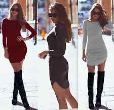 New Sexy Autumn Winter Womens Long Sleeve Tight Slim Bandage Bodycon Mini Dress
