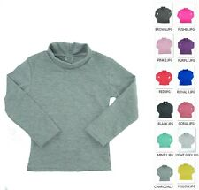 MADE IN USA KIDS BOYS N GIRLS COTTON SPANDEX TURTLENECK TOPS MANY COLORS 2 -14
