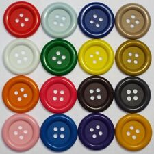 Large Buttons. 34mm and 37mm, 17 Colours. Big Chunky Bright Clown Bag Costume