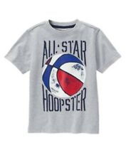 GYMBOREE STAR SPANGLED SUMMER GRAY w/ All Star Hoopster BASKETBALL TEE 5 6 7 NWT