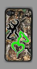 L@@K! Ultimate Green Deer Heart camo cell phone or iPod case or wallet!