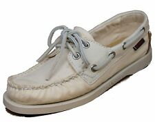 Women's Sebago™ Docksides Spinnaker Beige/Tan Canvas Boatshoes Sz