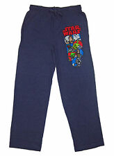 Mens Womens NEW Star Wars Characters Navy Blue Pajama Lounge Pants Sz XS M L XL