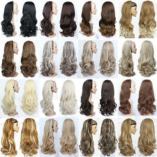 Fashion 3/4 Half Wig Hair Fall Loose Wavy Long Wig Fall with Hairband 21Colors