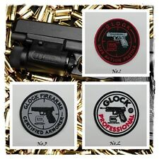 New GLOCK Sew Iron On Patch Embroidered Badge Firearms Gun Weapons Pistol Logo