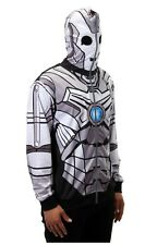 Doctor Dr. Who Cyberman Robot Zip-Up Hoodie Costume Officially Licensed
