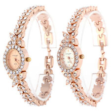 Fashion New Women Ladies Bracelet Stainless Steel Crystal Dial Quartz Watch HOT!