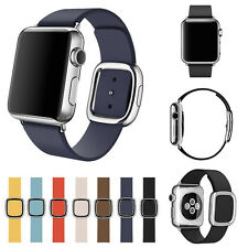 Modern Buckle Genuine Leather WristBand Bracelet for Apple Watch iWatch 38MM M/L