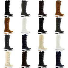 Ladies Quilted Fur Lined Duck Muck Winter Rain Snow Knee High Boots All Sizes