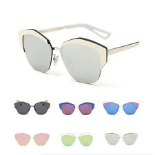 Fashion Womens Retro UV400 Mirrored Sunglasses Driving Shopping  Glasses Eyewear