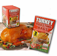 3 x Jumbo Size Roasting Bag Microwave Oven Poultry Chicken Turkey Meat Fish