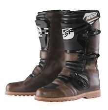 MSR NEW Mx Dual Sport Vintage Leather Adventure Motorcycle Oiled Brown Boots