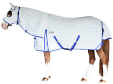 CARIBU Paddock Cotton RIPSTOP Attached Hood Horse Rug. Built Tough. 4'3 to 7'0