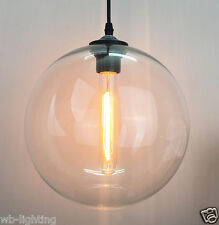 Industrial Vintage Retro Globe Clear Glass Lamp Shade Pendant Ceiling Light Loft