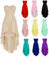 New Chiffon High Low Evening Prom Wedding Beach Ball Party Bridesmaid Prom Dress