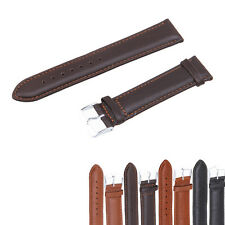 Genuine Leather Fashion Calfskin Watch Strap Pin Buckle Watch Band 14-26mm