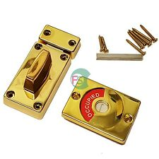 Quality Chrome / Brass Indicator Bolt Vacant / Engaged Bathroom Toilet Door Lock