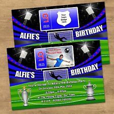 Personalised Boys & Girls Football Birthday Party Invites With Or Without Photo