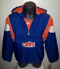 CLEVELAND CAVALIERS CAVS 1/2 Zip Pullover Jacket STARTER  YOUTH XL BLUE / ORANGE