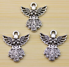 12/30/100 pcs wholesale Very beautiful Tibet silver wings charm pendant