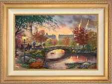 Thomas Kinkade Autumn in New York 18 x 27 Limited Edition S/N Canvas (Framed)