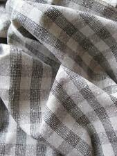 Lovely Vintage Pure New Wool Fabric- Brown Check- 2.8 Meters