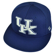 NCAA Kentucky Wildcats Flat Bill Zephyr Blue Fitted Size Hat Cap UK Jersey Mesh