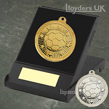 Football Medal in Box & Engraved Plate, Football Trophy Award, Free P&P, Winners