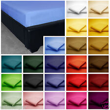 Bulk Buy 10 x Plain Dyed Polycotton Pillow cases Choose of 7 Colours
