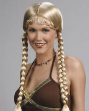 Heidi Dutch Girl Long Braids Fringe Bangs Enigma Costume Wig - 3 Colors