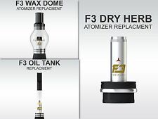 F3 Dry Herb, Wax Atomizers and Oil Tank (Each Sold Separately)