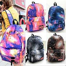 New Unisex Galaxy Pattern Travel Backpack Canvas Leisure School Bags #M Rucksack