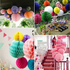 1XColorful Nice Honeycomb Ball Paper Lanterns Wedding Birthday Party Decorations