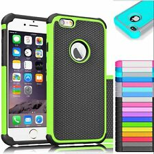 New Hybrid Shockproof Rugged Rubber Hard Cover Case for iPhone 6 6s 4.7 Plus 5.5