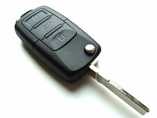 Skoda Roomster Superb Yeti 3 Button Flip Remote Key Fob Case (Blank HAA Blade)