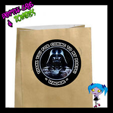 Darth Vader Birthday Party Favor Goody Bag STICKERS Personalized Loot Bag Labels