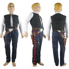 Star Wars ANH Boys Kids Han Solo Outfit Full Set Halloween Cosplay Costume