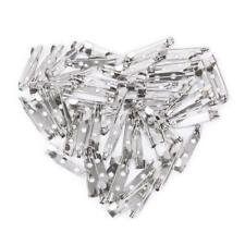 50pcs Brooches Back Bar Pins Safety Catch Brooch Jewelry Findings Charms Silver