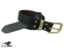 Leather Belt Mens Ladies Genuine Fashion New Quality Dress Buckle LYNE RMW BLack