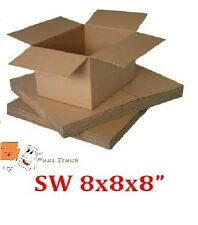"8x8x8"" CUBE SINGLE WALL MAILING SHIPPING CARDBOARD BOXES  *FREE PP*"