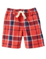 GYMBOREE ISLAND CRUISE RED PLAID WOVEN SHORTS 18 24 3T 4T NWT