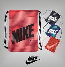 Mens Ladies Genuine Nike Sports Drawstring Graphic Gymsack Bag Size 44 x 33 cm