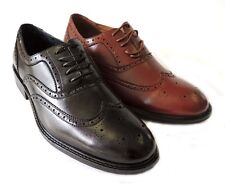 NEW FASHION MENS LACE UP WING TIP OXFORDS LEATHER LINED DRESS SHOES FREE HORN