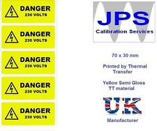 Electrical Labels - 10 Danger 230V  70 x 30mm JPSLABEL16d