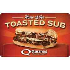 Quiznos eGift Card - $25 $50 $100 - Email delivery