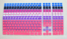 Ultra Thin silicone colorful keyboard cover with a numeric keypad for Apple iMac