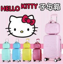Hello Kitty Suitcase Luggage ABS Traveling Trolley Bag Women travel 2pc SET