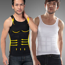 Mens Compression Vest Shirt Body Slimming Shaper Belly Waist Girdle Underwear